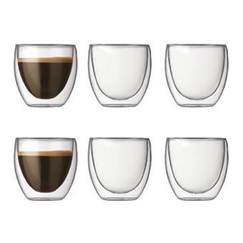 Bodum Pavina Dubbelwandig glas 0,08 L – 6 st.