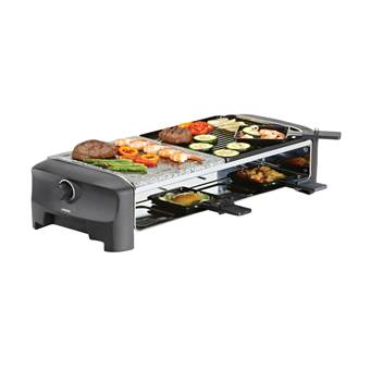 Princess 162820 Raclette 8 Stone & Grill Party | Aluminium, Kunststof, Steen