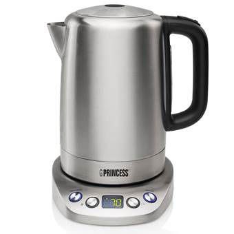 Princess 236002 Kettle Powerfull And Programmable Waterkoker – 1,7 L | RVS