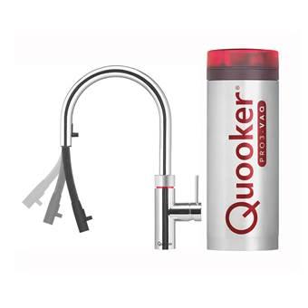 Quooker PRO3-VAQ FLEX Chroom Kokendwaterkraan | Chroom