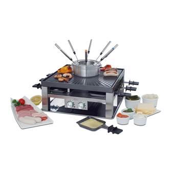 SOLIS 796 3-in-1 Combi Grill, Fondue & Gourmet | RVS