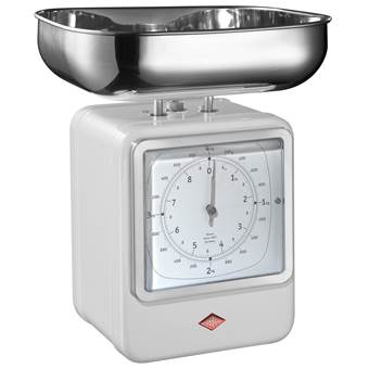 Wesco Keukenweegschaal met Klok | RVS, Staal