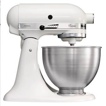 KitchenAid 5K45SSEWH Classic Keukenmixer 4,3 L | Metaal