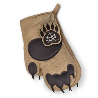 FRED Bear Hands Ovenwanten | Katoen, Siliconen