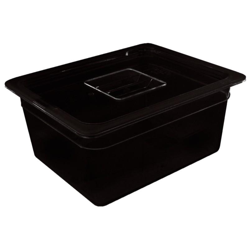 Gastronormbak Vogue, polycarbonaat, zwart, GN1/3, 65mm diep | 5020403491972