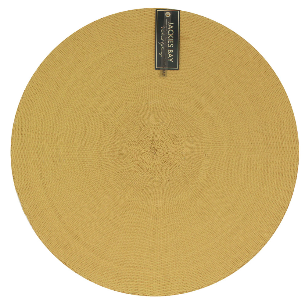 Jackies Bay Placemat Rond Mosterd