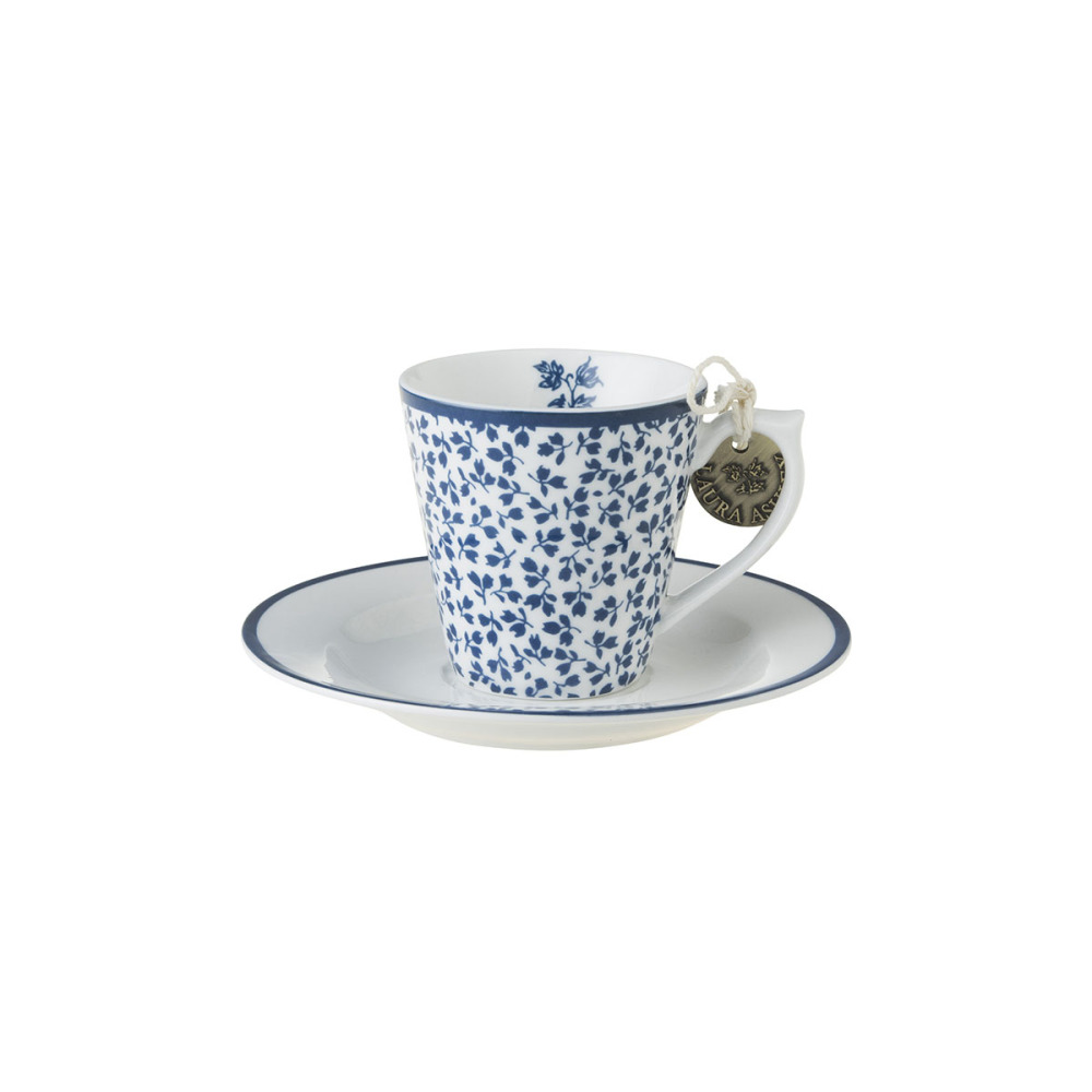 Laura Ashley Kop en Schotel Espresso Floris 9 cl