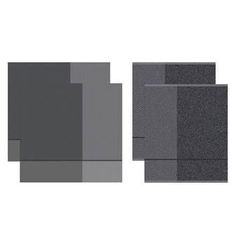 DDDDD Keukendoeken En Theedoeken Set Blend Dove Grey (2+2 stuks)