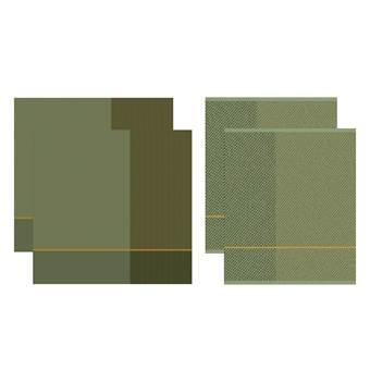 DDDDD Keukendoeken En Theedoeken Set Blend Olive Green (2+2 stuks)