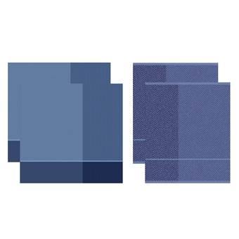 DDDDD Keukendoeken En Theedoeken Set Blend Violet Blue (2+2 stuks)