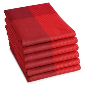 DDDDD Theedoek Blend Fire Red (6 stuks)