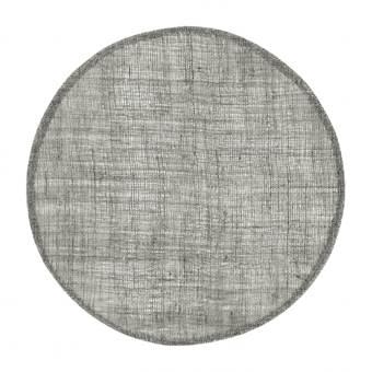 Home Delight Placemat rond linnen donker grijs 38cm set/6