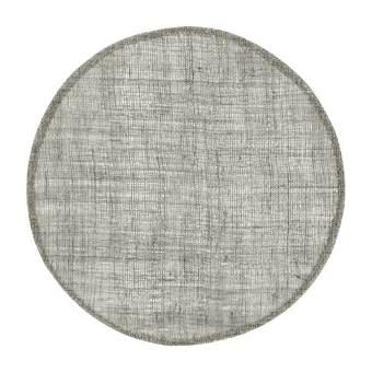 Home Delight Placemat rond linnen grijs 38cm set/6