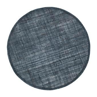 Home Delight Placemat rond linnen inkt blauw 38cm set/6