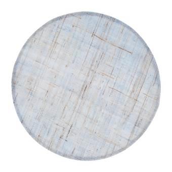 Home Delight Placemat rond linnen zacht blauw 38cm set/6