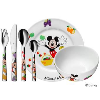 WMF Disney Mickey Mouse Bestekset 6-delig | Porselein, RVS