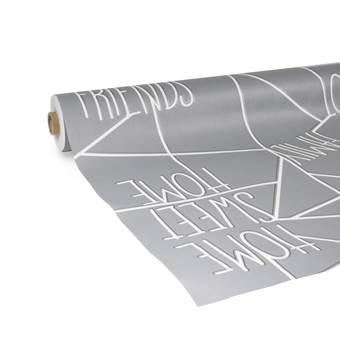 d-c-fix – Tafelzeil – Home Sweet Home – Grijs – 140×300 cm