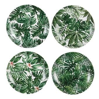 &k amsterdam Leaves Bord Set van 4 ¯20 cm – Groen