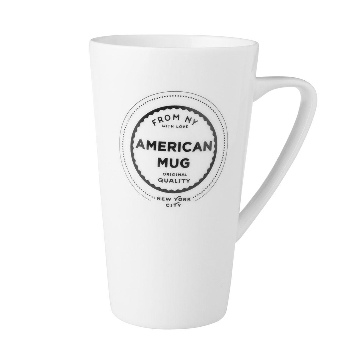 Dutch Rose Zwart-Wit Beker XXL From NY American Mug 51 cl