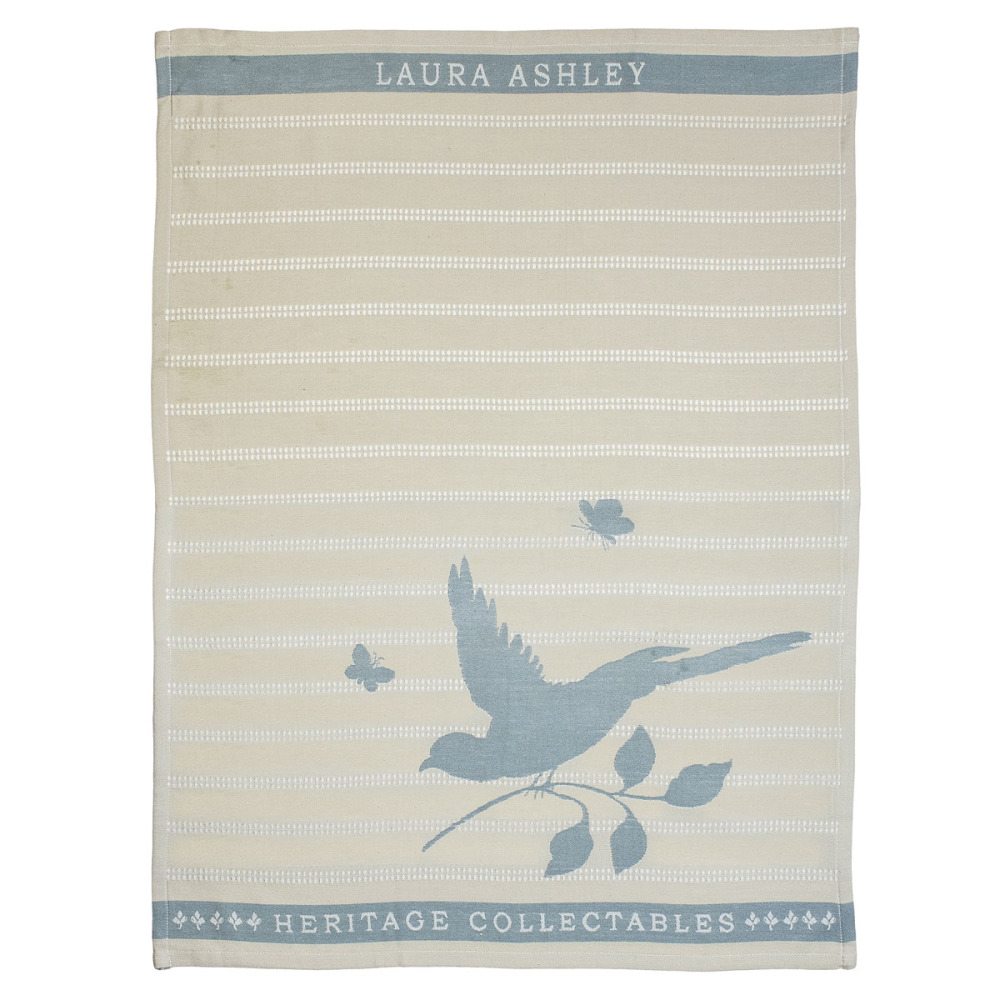 Laura Ashley Heritage Theedoek Cobblestone Vogel 50x70 cm