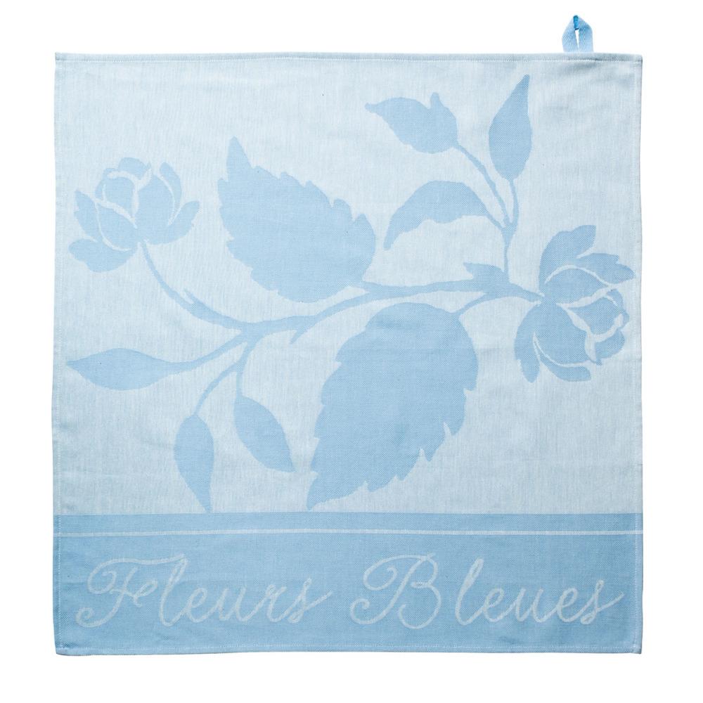 Royal Boch Fleurs Bleues Theedoek Blauw 60 x 60 cm